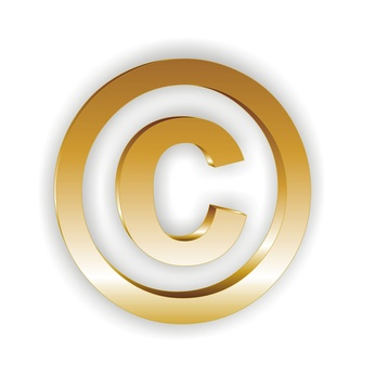 Icon Copyright gold